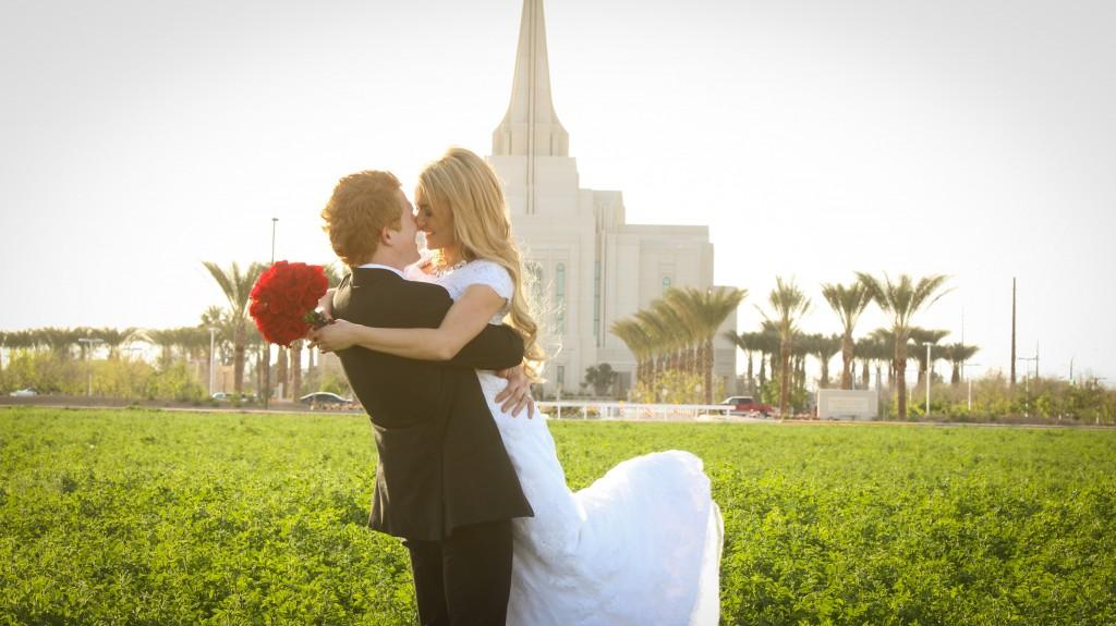 LDS Gilbert Arizona Temple Wedding {Chantz & Kenzi}