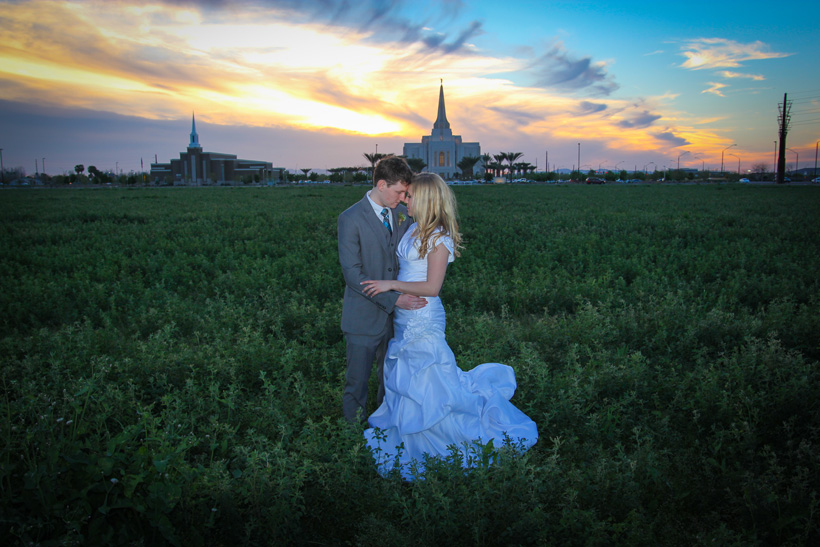 Gilbert AZ Temple Wedding Photos