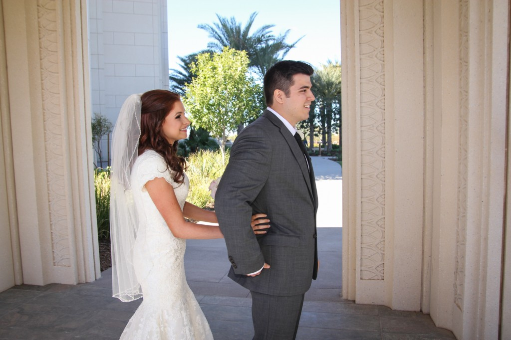 Gilbert Temple Wedding First Look